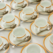 Many rows of coffee cup — Stock Photo