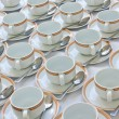 Many rows of coffee cup — Stock Photo #10429324