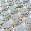 Royalty-Free Stock Photo: Many rows of coffee cup