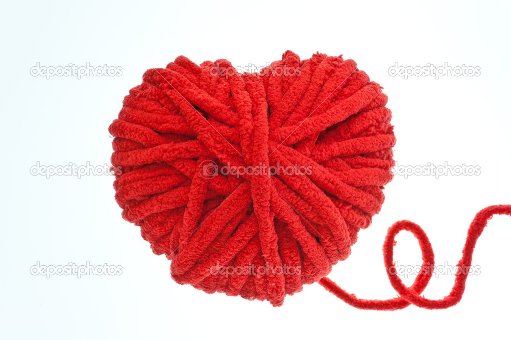 Red heart  valentine symbol isolation on white — Stock Photo #8789254