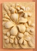 Stone Plumeria craft art design for spa — Stock Photo