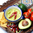 Guacamole and nachos — Stock Photo #10342094