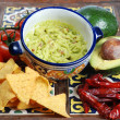 Guacamole and nachos — Stock Photo #10342117