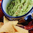 Guacamole and nachos — Stock Photo #10342178
