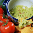Guacamole and nachos — Stock Photo #10342188
