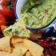 Guacamole and nachos — Stock Photo #10342235