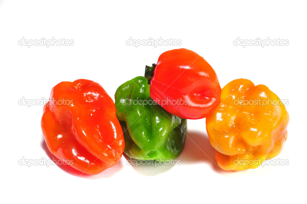 The real hot chilli peppers from mexico  Stock Photo #10393950
