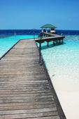 Pier in maldives — Stock Photo