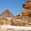 Stones of pyramid of cheope — Stock Photo #10520456