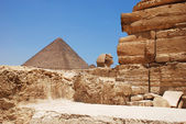 Stones of the pyramid of cheope — Stock Photo