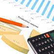 Stock Photo: Business financial chart