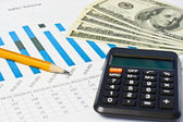 Business financial chart — Stock Photo