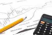 бизнес финансовые диаграммы — Стоковое фото