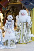 Santa Claus and Snow Maiden. — 图库照片