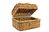 Wicker basket with a cover — Stock Photo