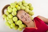 Tennis flicka — Stockfoto