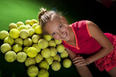 Tennis girl — Stock Photo