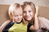 Smiling girl and boy — Stock Photo