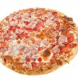 Pizza on white background — Foto Stock