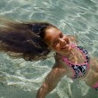 Swimming girl - Stock Photo