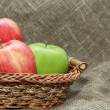 Pile of red and green apple — Stock Photo #10110563
