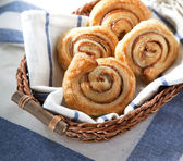 Cinnamon danish bun — Stock Photo