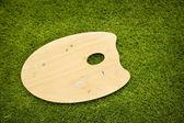 木制棕色艺术调色板 — 图库照片