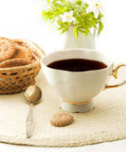 Cup of tea with cookies — Stock Photo