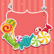 Sweets on strings — Imagen vectorial