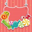 Royalty-Free Stock Imagem Vetorial: Sweets on strings