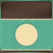 Vektor-Grußkarte mit Rahmen und Polka Dots Hintergrund — Stockvektor