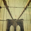Brooklyn Bridge. Old style image — Stock Photo #10590711