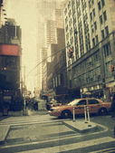 New york city. street. gammal stil bild — Stockfoto