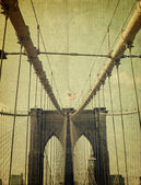 Brooklyn Bridge. Old style image — Stock Photo