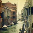 Canal with gondola. Venice — Stock Photo