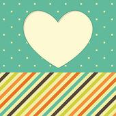 Cornice cuore. san valentino — Vettoriale Stock