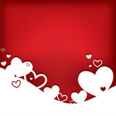 Hearts. Valentine's day card — Vecteur
