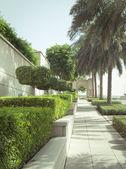 Pasarela verde en puerto deportivo de dubái — Foto de Stock