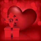 Ευχετήρια κάρτα ημέρα του Αγίου Βαλεντίνου — Διανυσματικό Αρχείο