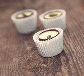 Chocolate sweets with pistachio — Stock Photo