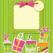 Greeting card with gift boxes — Stock Vector