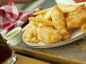Fish and chips — Stock Photo