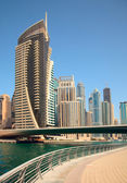 Dubai Marina skyscrapers — Stock Photo