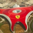 Ferrari World Park is the largest indoor amusement park in the w - Stock Photo