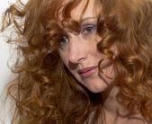 红头发的女人。肖像 — 图库照片