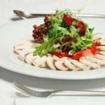 Salad with mushrooms — Stock Photo