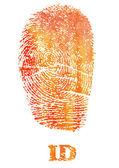 Fingerprint identification — Stock Photo