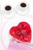 Love - Strawberry Cake — Stock Photo