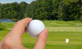 Hand With Golf Ball — Stock Photo