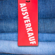 Jeans With German Sale Tag — Stock Photo